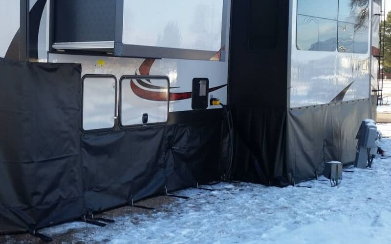 How To Skirt Your RV In The Winter