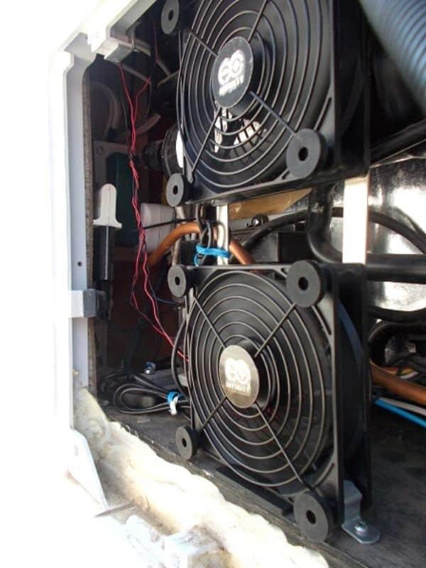 RV Refrigerator Cooling Exhaust Fan