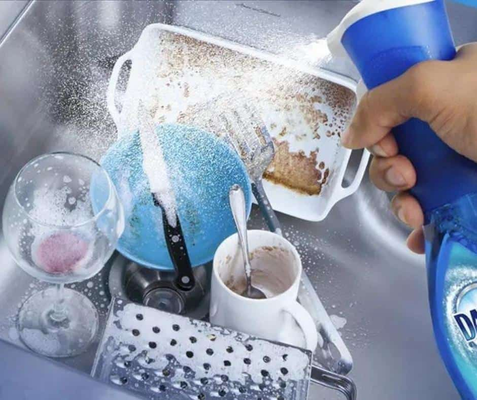 Use Spray Bottles for Dishes and Showers